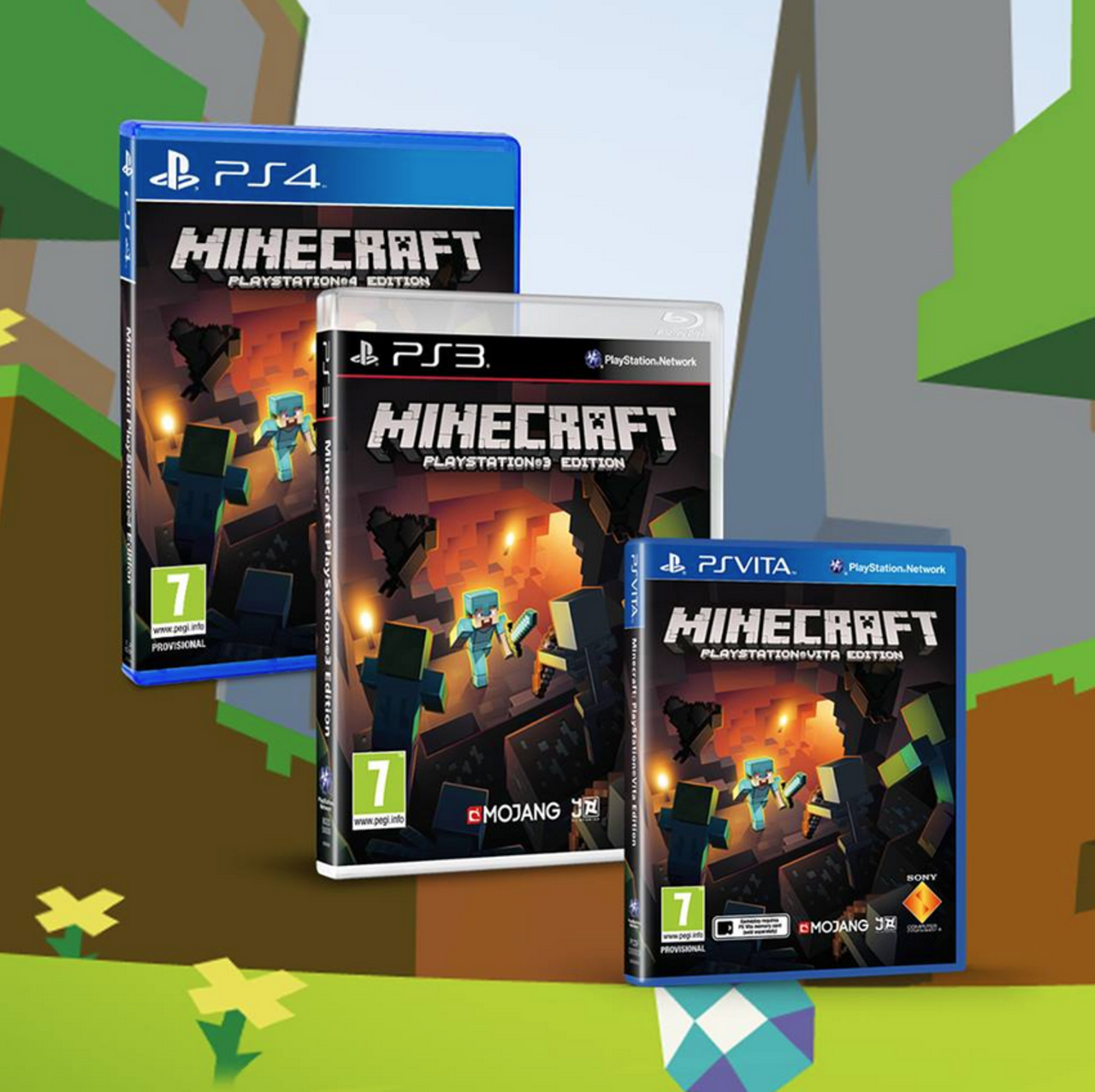 Minecraft Ps3 Edition Getting Disc Release Next Month Has Lovely Box Art Minecraft Video Games Ps4 Minecraft Ps4