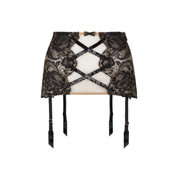 Agent Provocateur Adelia Suspender ($750) ❤ liked on Polyvore featuring intimates, agent provocateur and agent provocateur lingerie