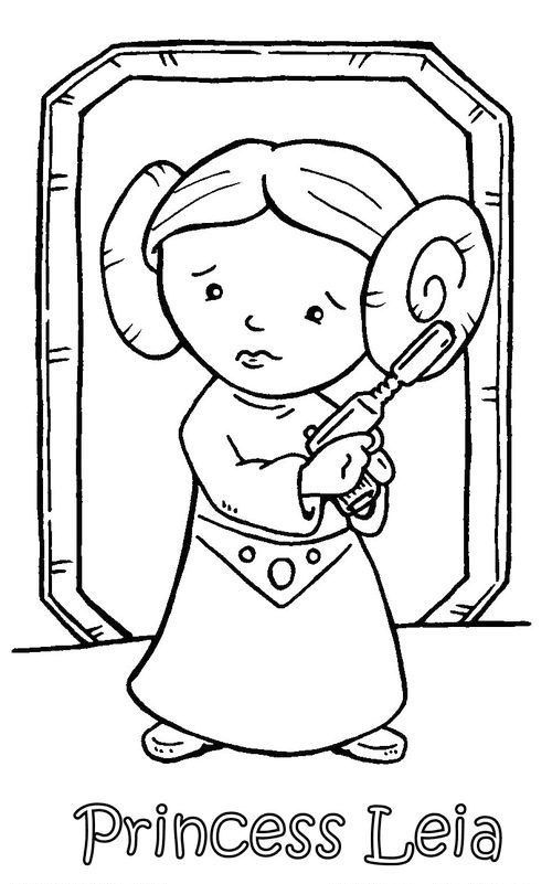 Chibi Princess Leia Coloring Pages For Kids Star Wars Coloring Sheet Star Wars Activities Star Wars Printables