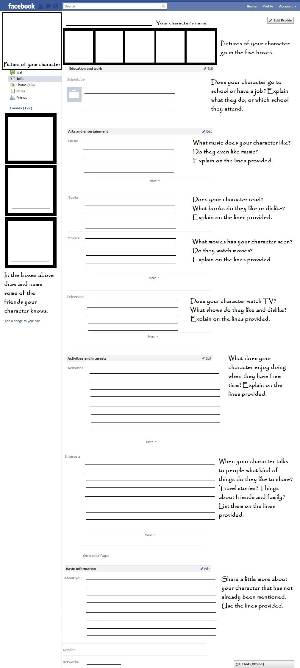 facebook profiles for character development are your students facebook profiles for character development are your students writing short stories the students can