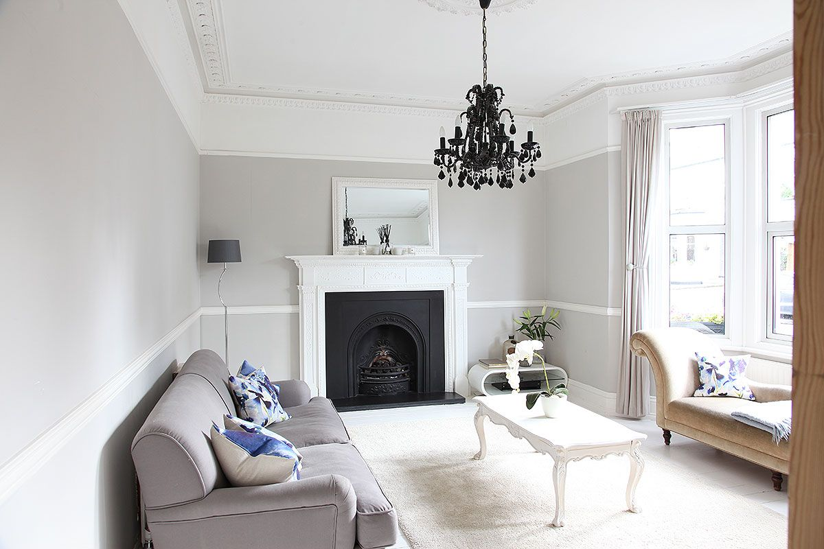 Victorian house with modern extension Large open plan living area ...