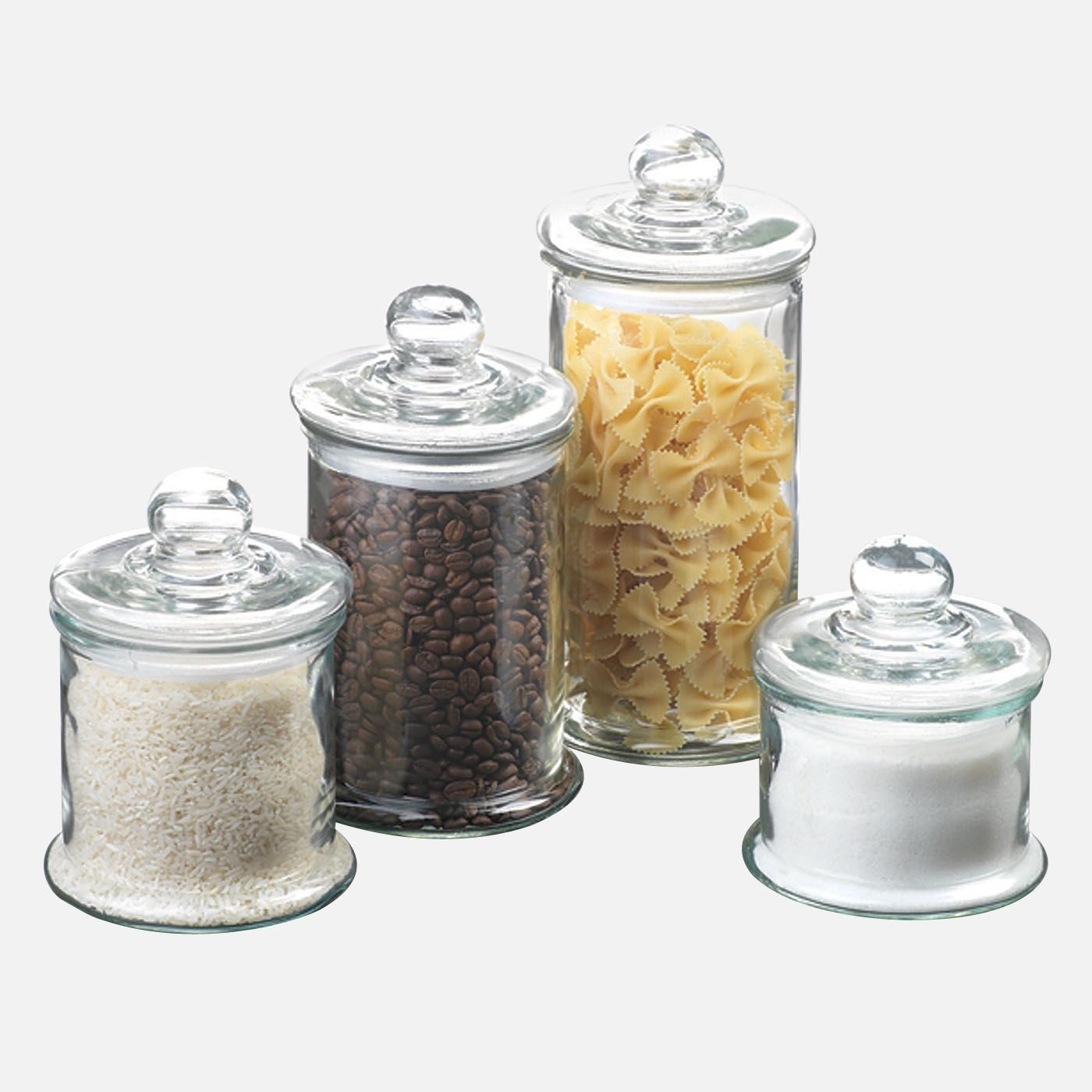 Kitchen Storage | Anchor Hocking Glass Canister Set With Ball Top ...