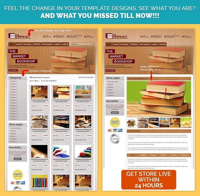Buy EBay Template Listing Design Start Selling Books CDs DVDs - Buy ebay template