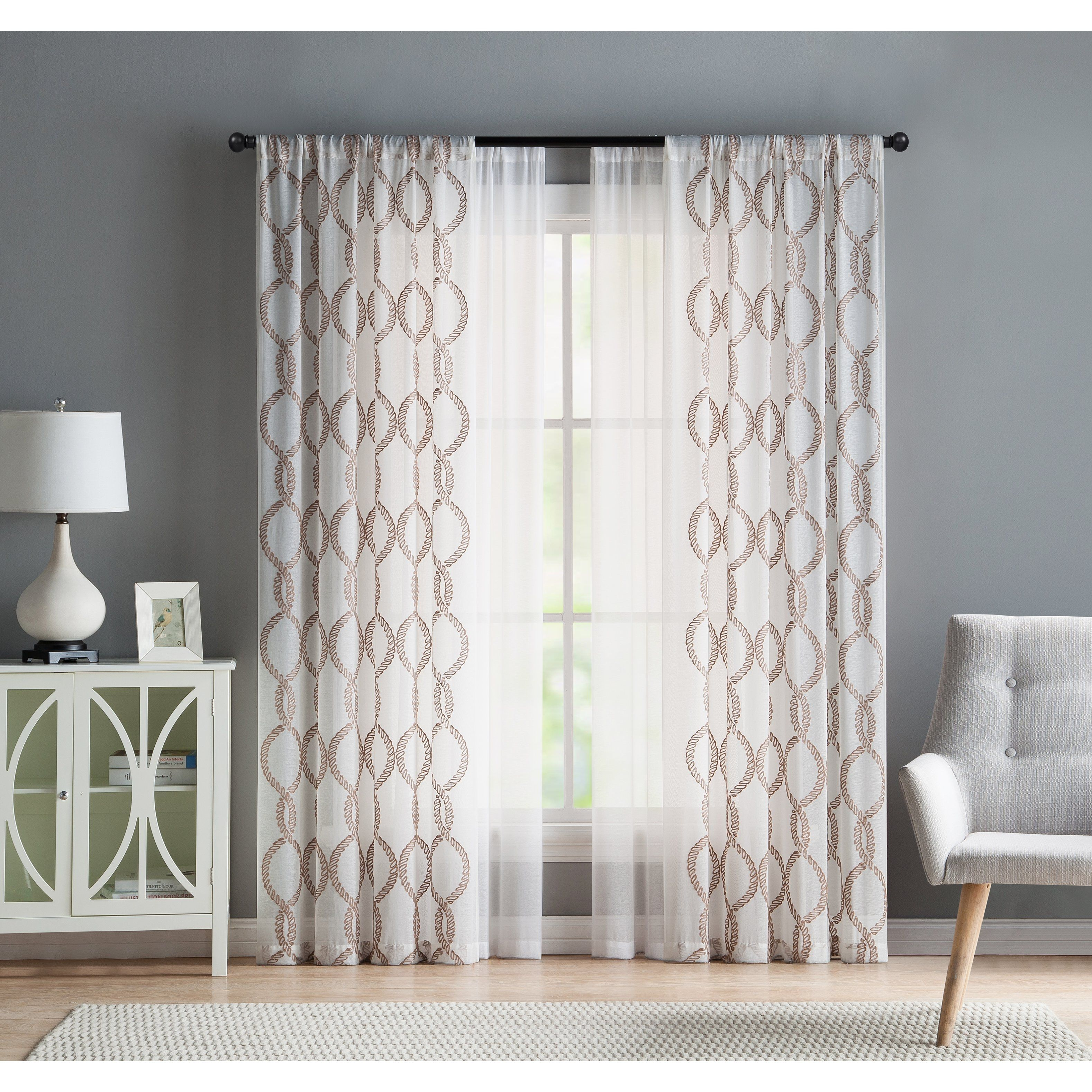 Weston White Bathroom Window Curtain Pair | http://realtag.info ...