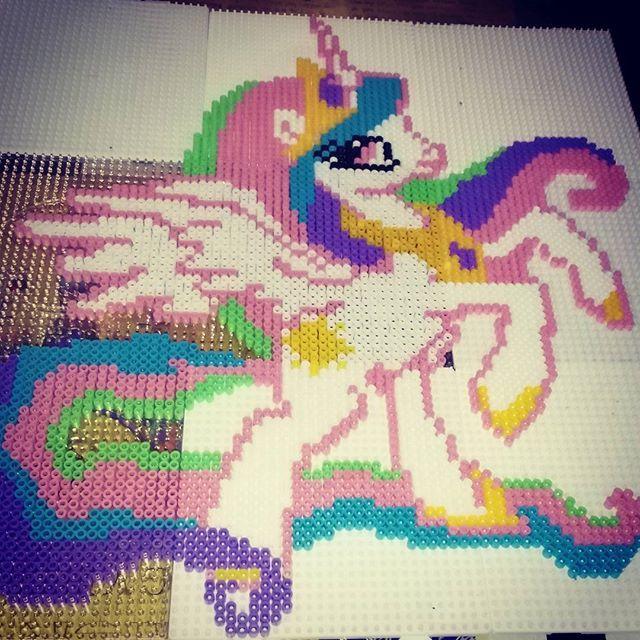 MLP Princess Celestia hama beads by belfastbeads