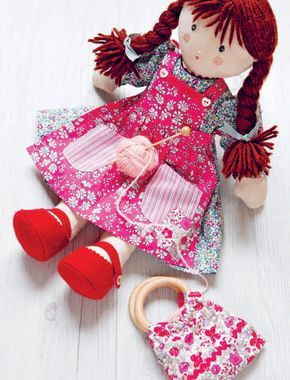 Floral Doll clothes sewing pattern is part of Clothes Dresses Bags - 2in) Pink cotton ribbon, 5cm (6in), 1cm wide Thin elastic, 18cm (7in) Press studs x 2 Floral button, small Originally PublishedSewn Toy Tales