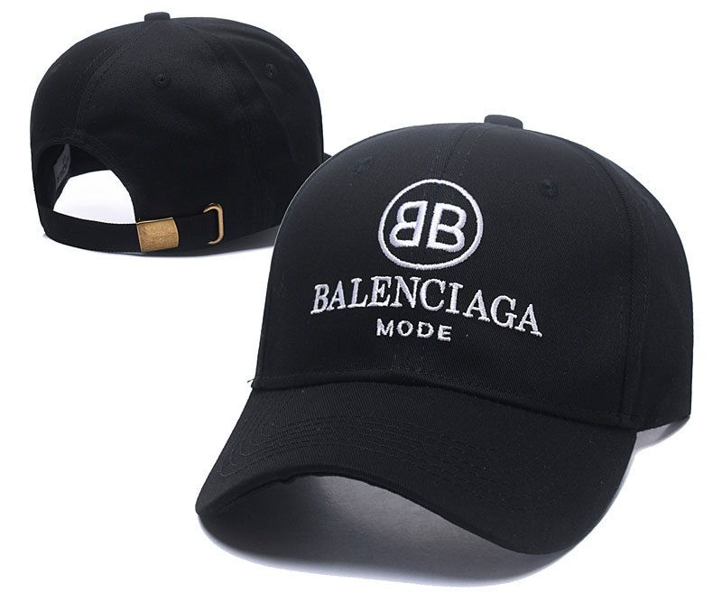 e99d20ae7e3 Men s   Women s Balenciaga Classic With BB Mode Logo Curved Dad Cap - Black  (Copy Ori)