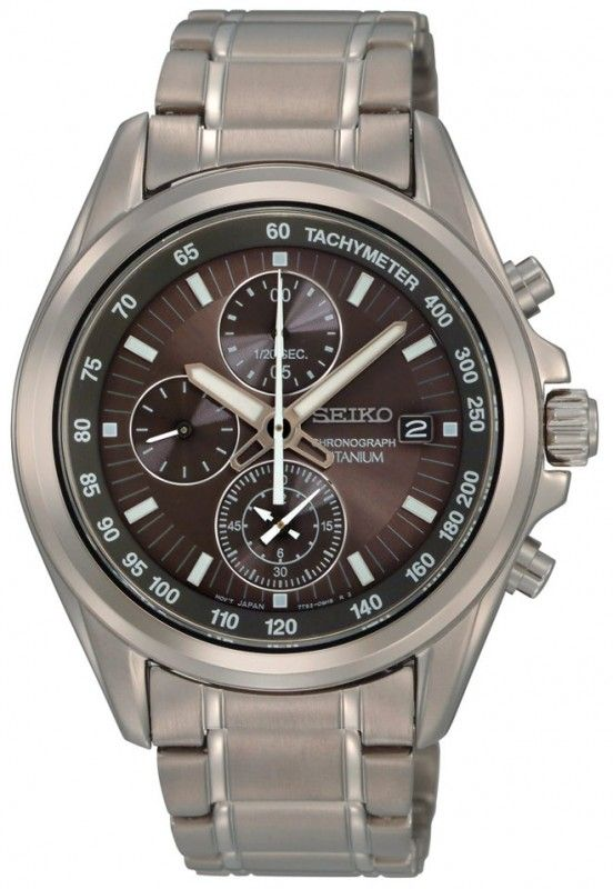 Seiko Quartz Titanium Watch #SNDC91P1 (Men Watch), Seiko Chronograph @ www.Bodying.com