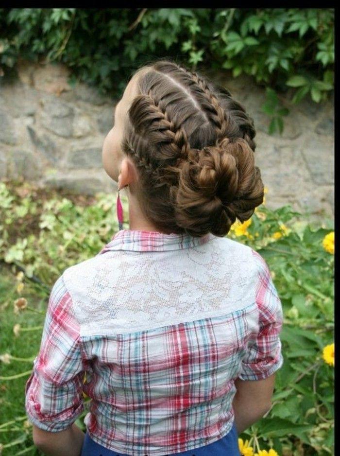 Coiffure petite fille - 90 idées pour votre petite princesse   Chignon petite fille, Modele ...