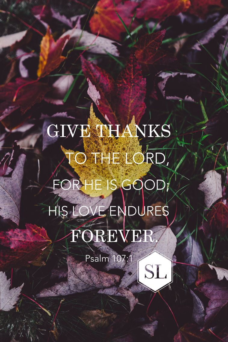 Give Thanks To The Lord For He Is Good And His Love Endures