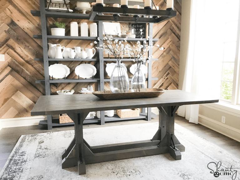 DIY Industrial Corbel Farmhouse Table for 170