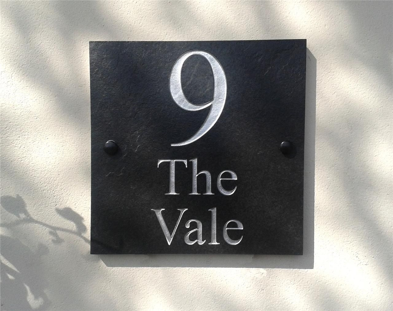 details about engraved natural slate house door sign name number