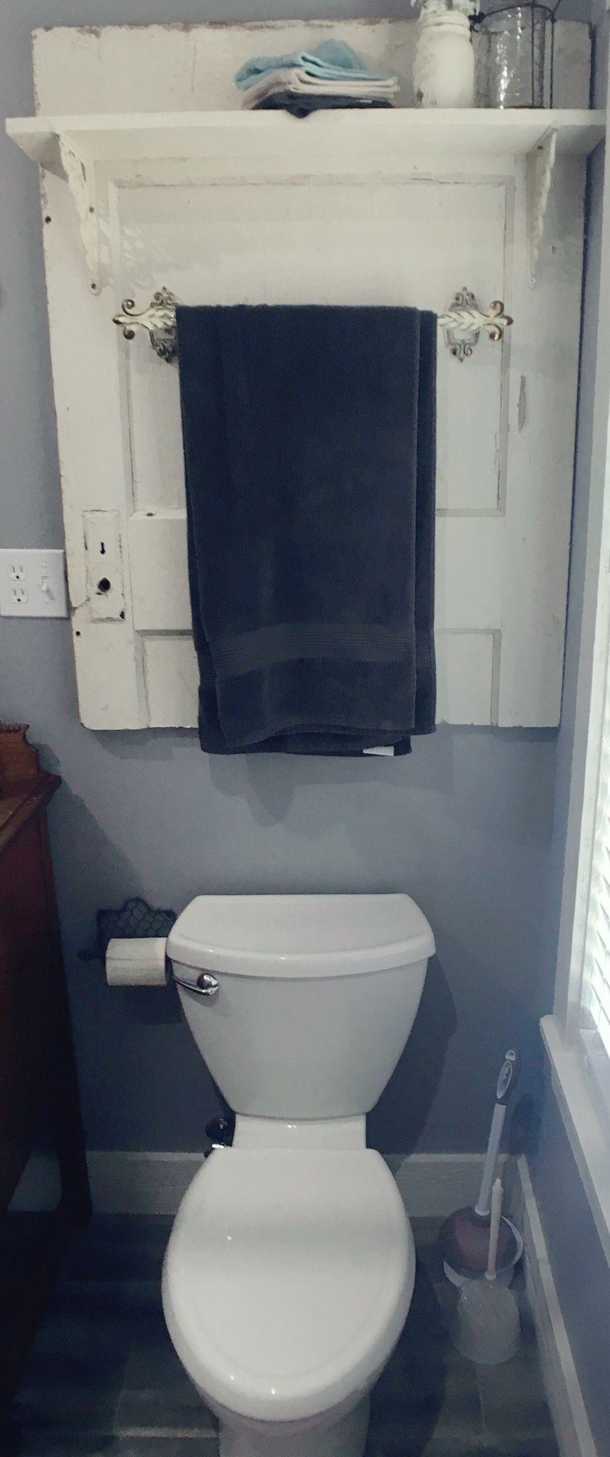 Repurposed vintage door, Door Bathroom Towel Holder, Farmhouse ...