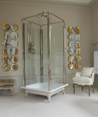 Barnana Fornasetti plates & an updated twist on a classic + modern shower