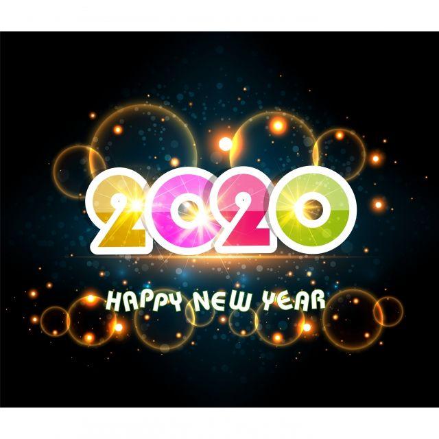 Bonne Année 2020 Inscription Inscription De Voeux