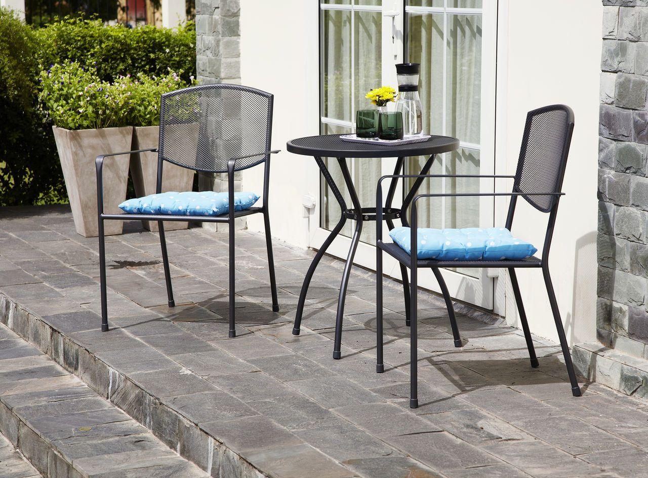 Asztal ALMERIA átm60cm+2 szék ALMERIA a JYSKnél. Terrace