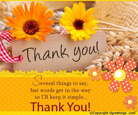 A warm thank you card for everyone Thanks cards – Thanks Card Words