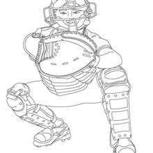 Catcher Coloring Page Coloring Page Sport Coloring Pages