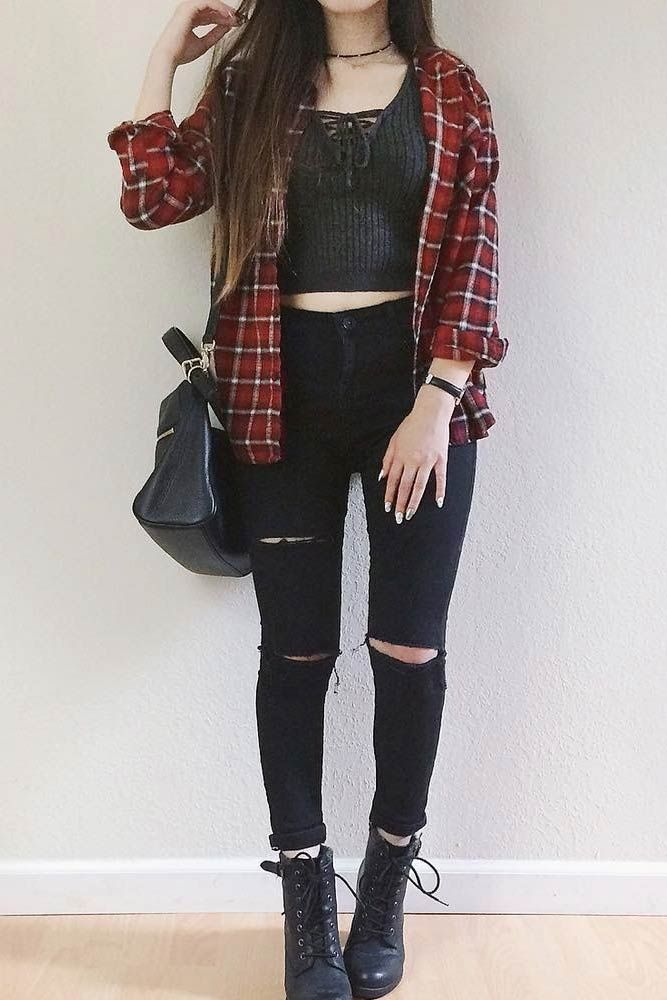bc8baba1e6d Flannel Fall Outfits  Style Tips How to Wear Your Favorite Shirt ☆ See more