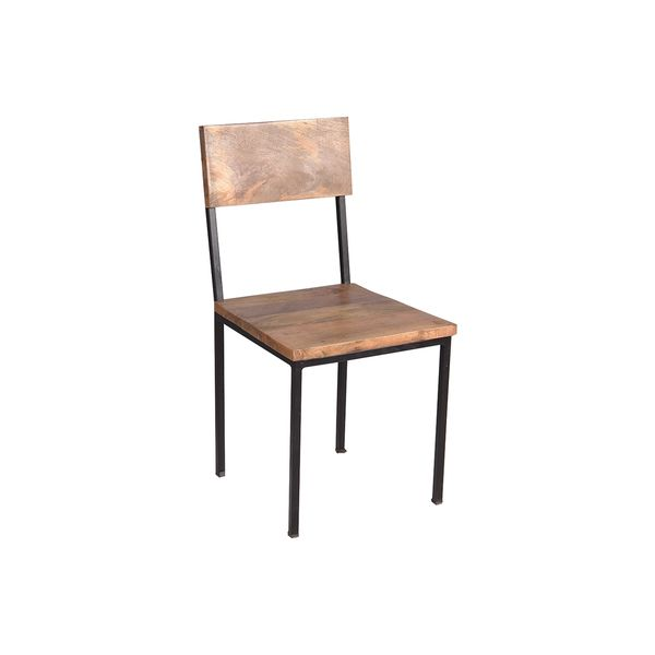 Superieur Timbergirl Reclaimed Mango Wood And Metal Chair (Set Of 2)