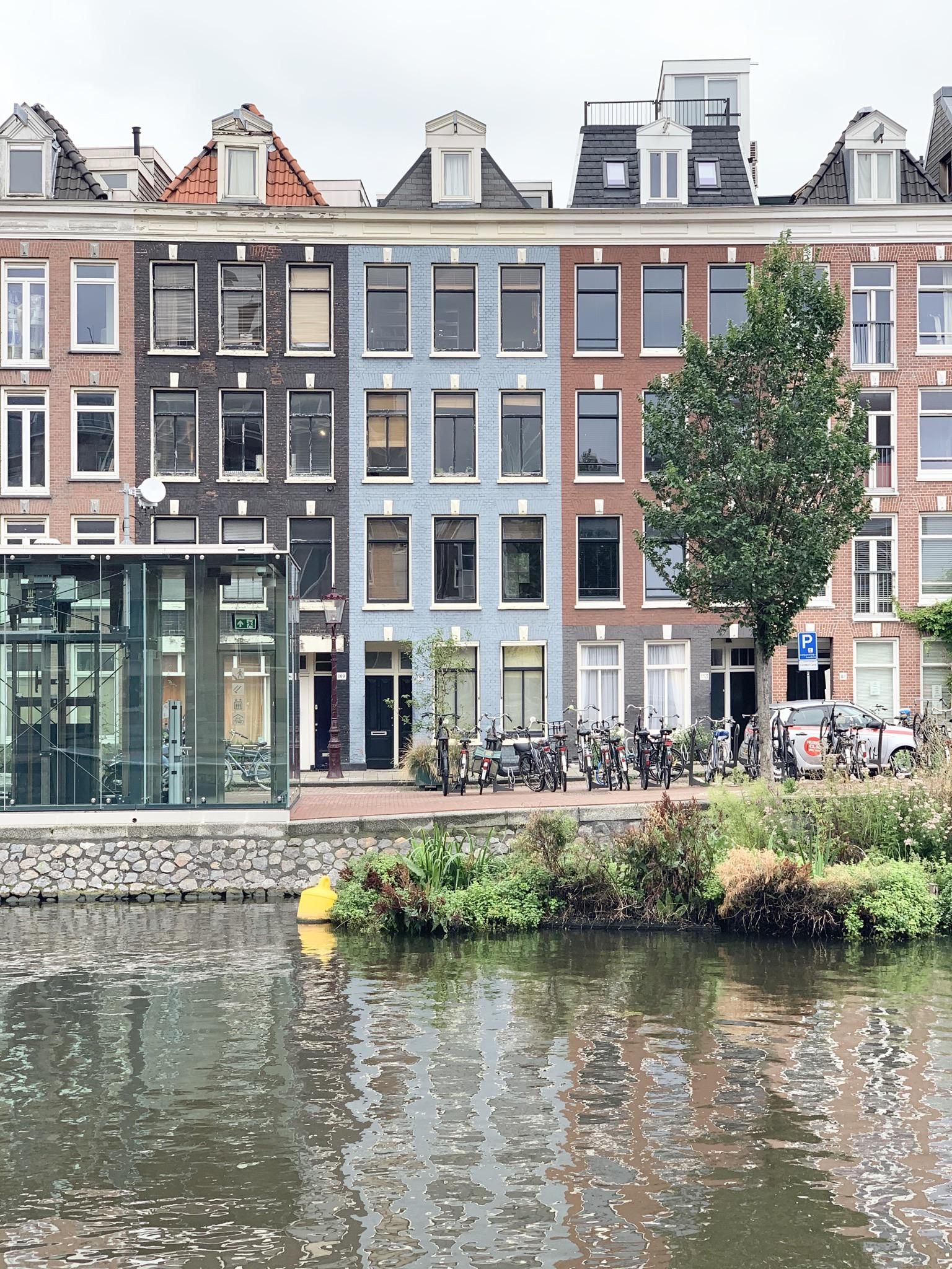 Beautiful Houses In Amsterdam Overlooking The Canal Architecture