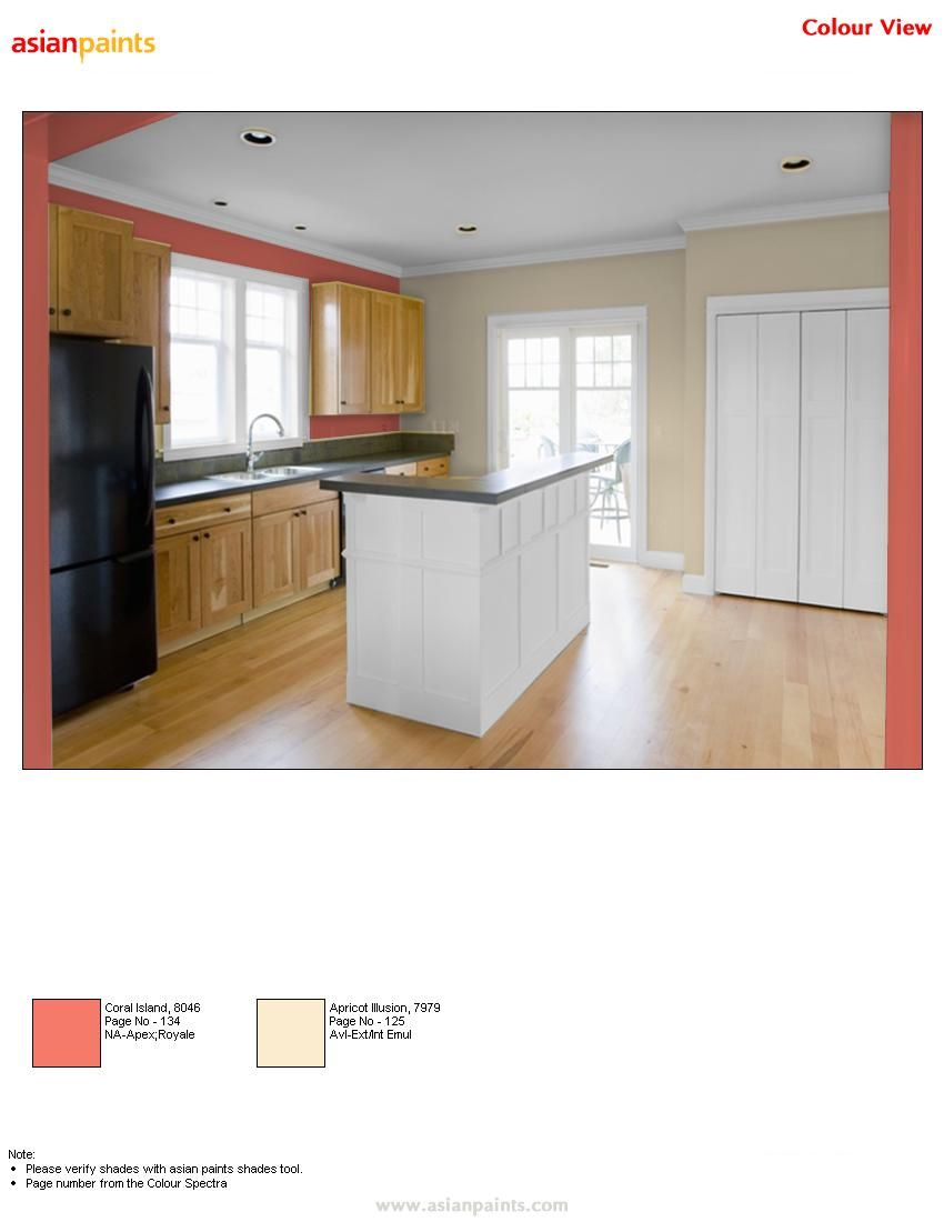 Kitchen Featured Wall Coral Radiance And Side Walls Either Given Or Nilaya Wall Covering Inspired By Yellows An O Kitchen Feature Wall Bed In Living Room Home