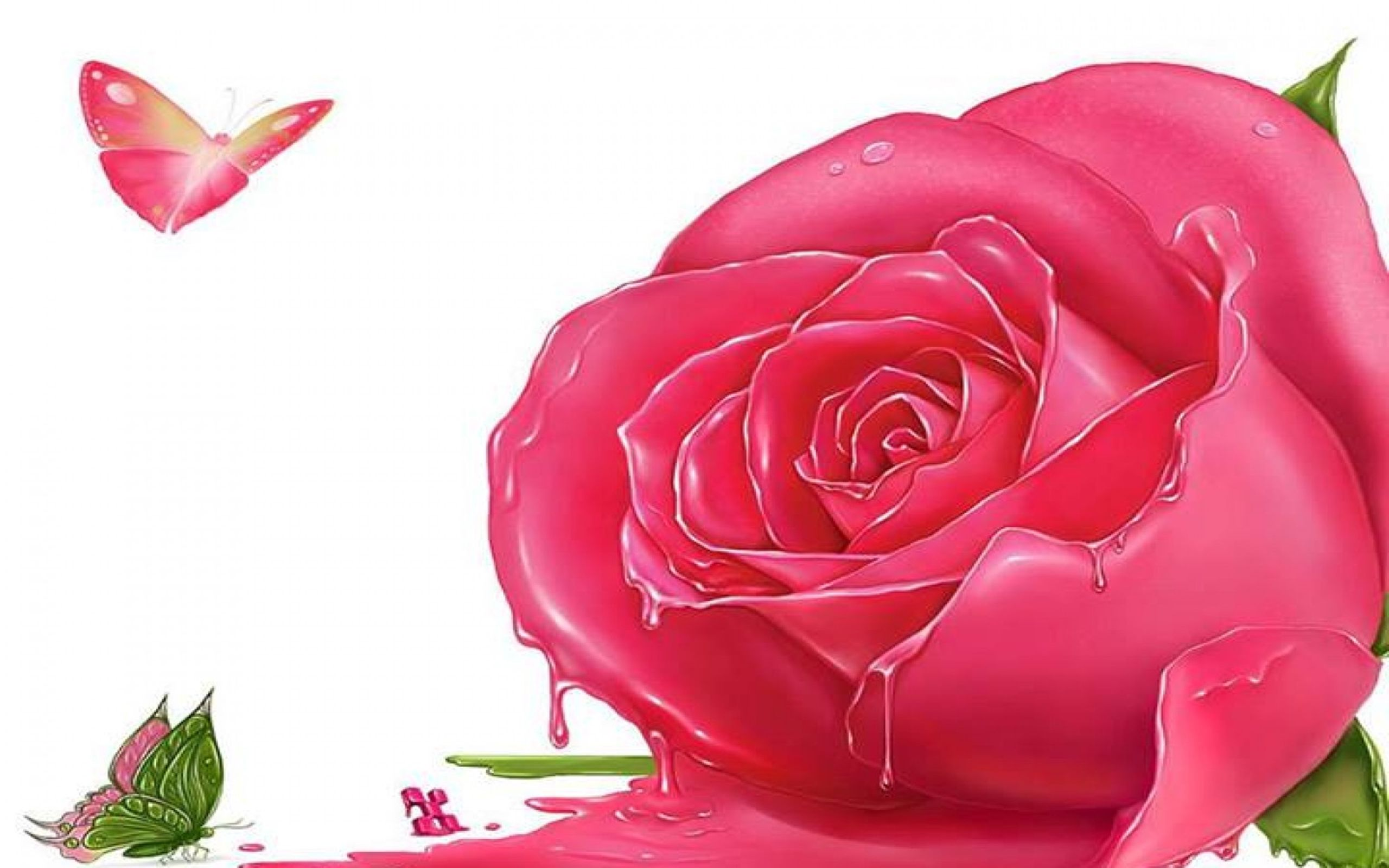 Desktophdwallpaper Org Pink Flowers Wallpaper Pink Flowers Background Rose Flower Wallpaper