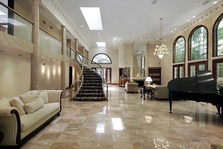 67 Luxury Living Room Design Ideas   Italian marble flooring, Luxury living room design, Marble ...
