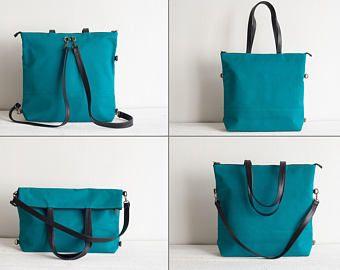 5c81d6c9c9 Canvas und Leder Damen Tasche