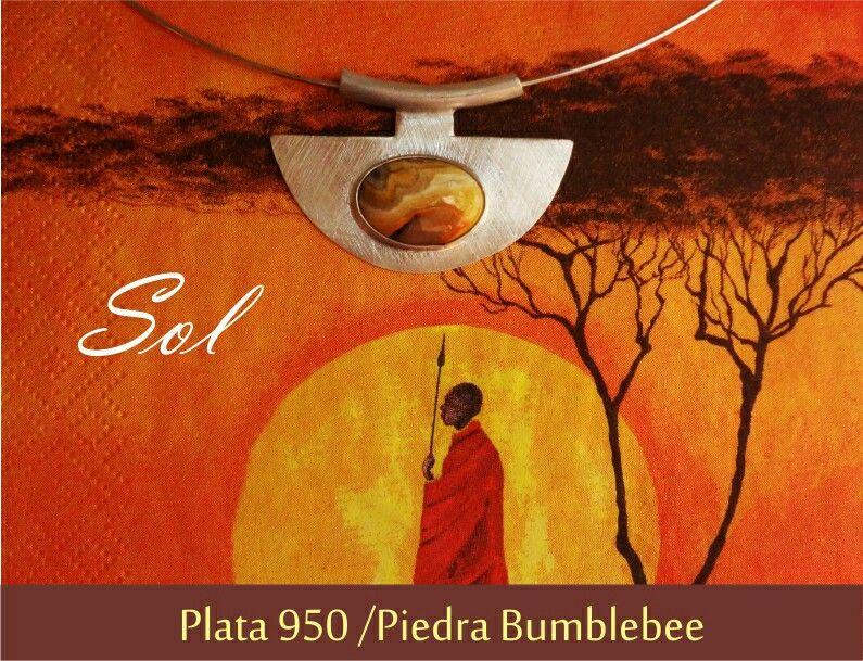 Collar Sol ☆ inspirado en Tribus de Africa