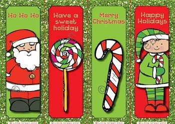 free christmas bookmarks to use as gifts or rewards