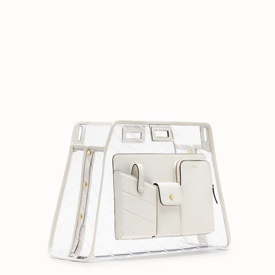 5a27e6a3c09a Fendi - Medium Peekaboo Defender white leather bag cover ( 990)