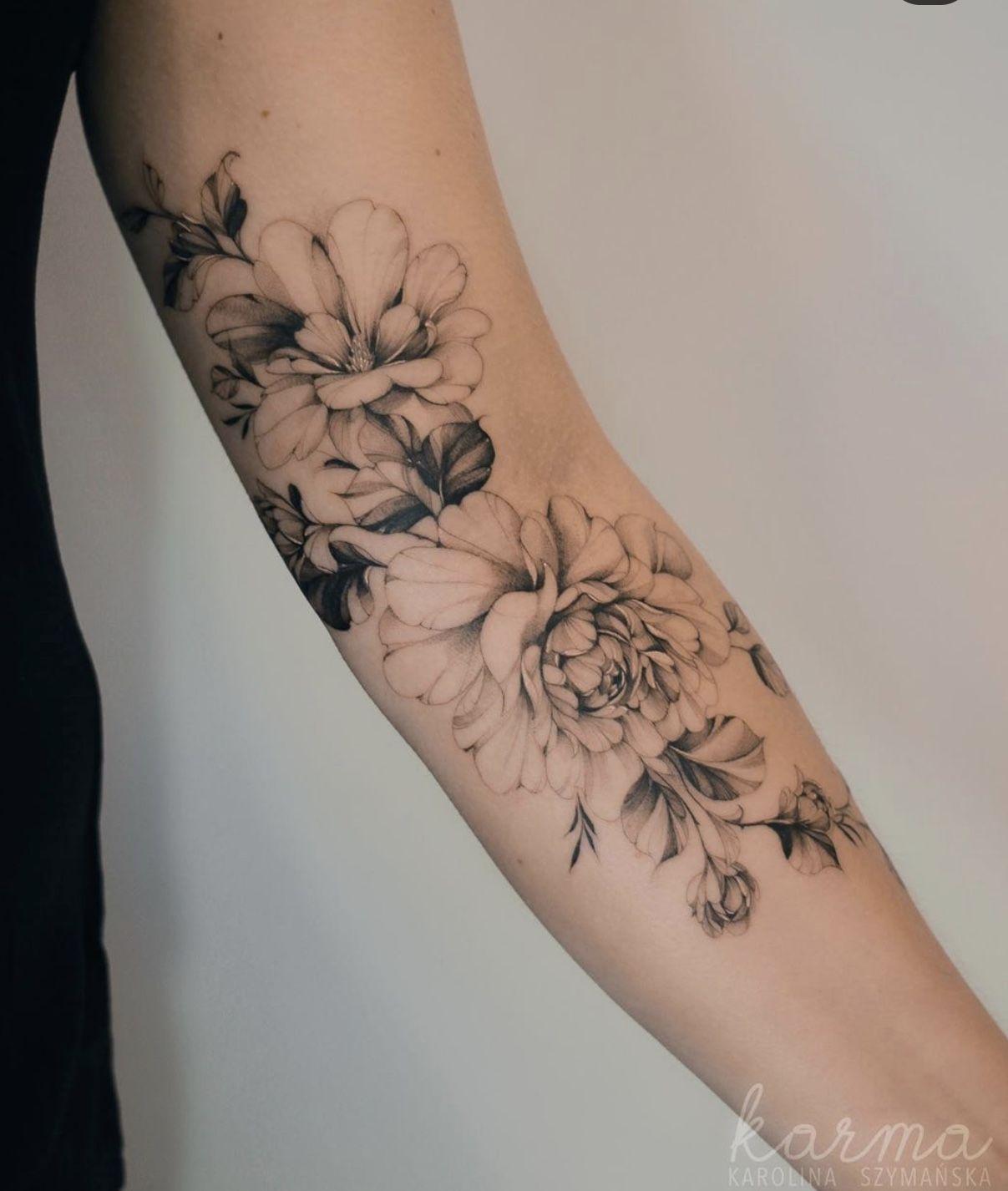 Unterarm filigran tattoo frau Welche Körperstelle