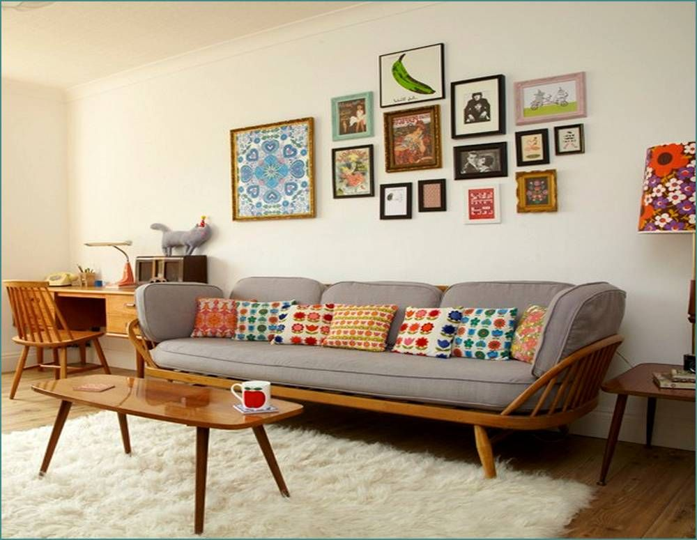 Retro Living Room Grey And Teal Curtains Rooms Style Furniture Home Design Ideas