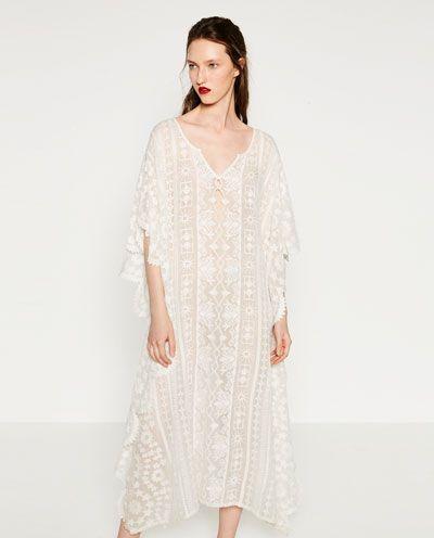 Bordado Imagen 2 Zara De Vestidos Kaftan 2019 Vestido En OWSW16qn 1891837b73f3