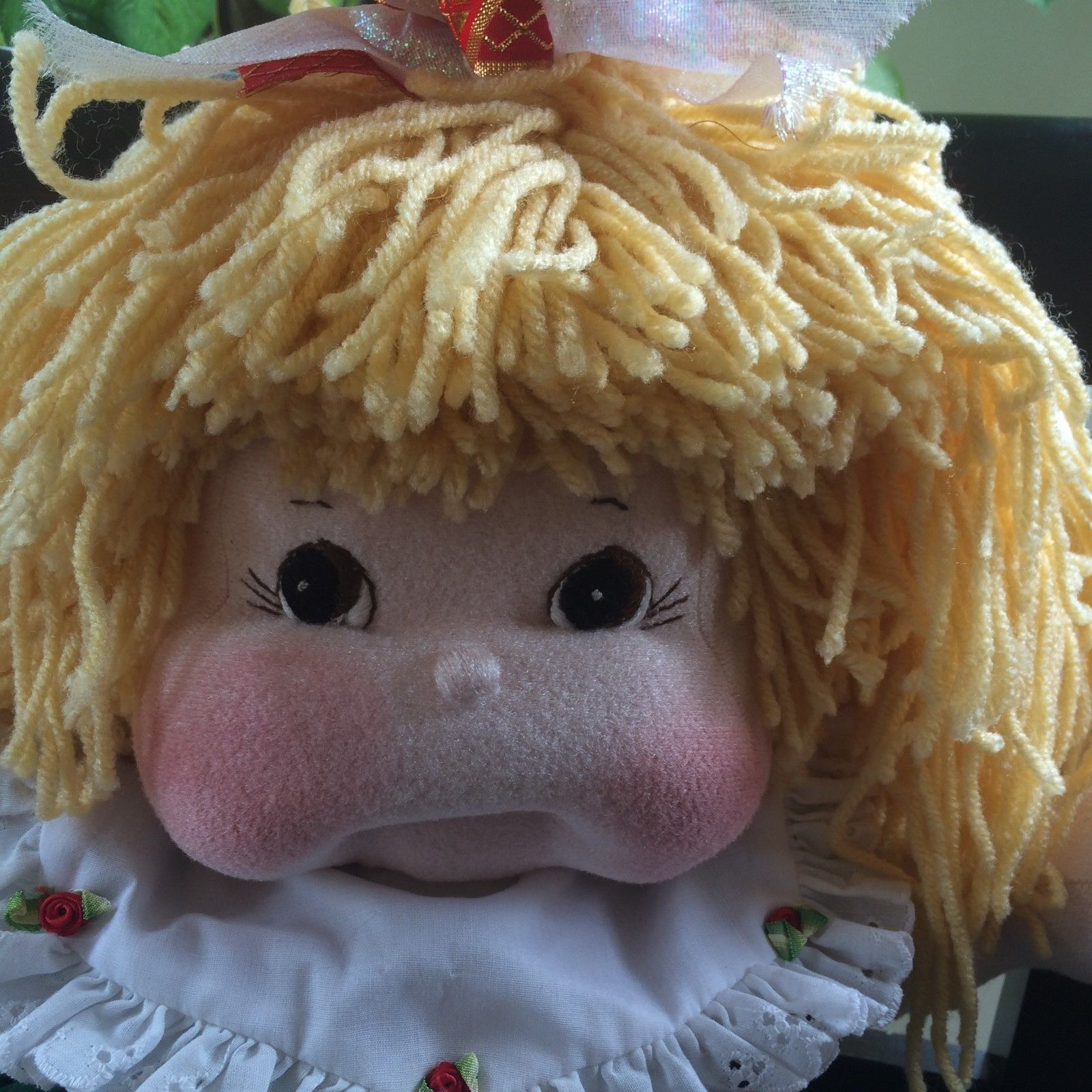 24 inch Dinkybaby Doll Mykid Girl Yellow Yarn Hair Made by Vicki Riley | eBay