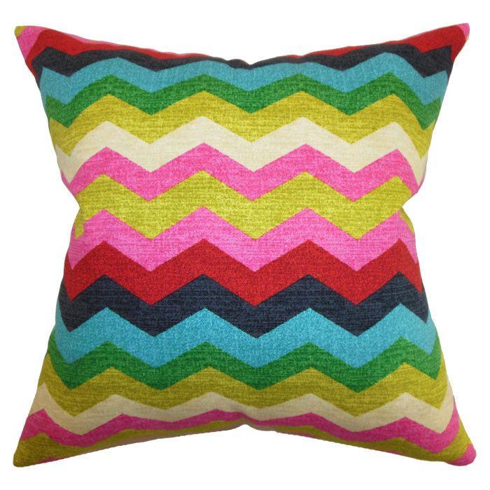 Colorful chevron pillow