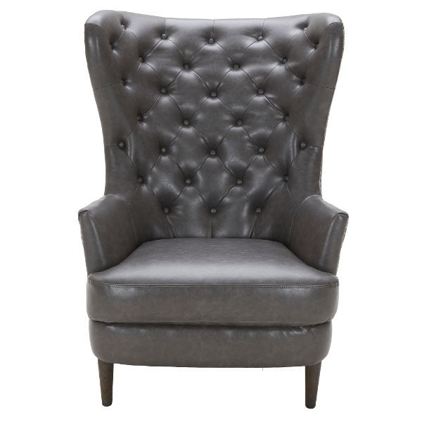 Best Charcoal Gray Wingback Chair Nicole In 2019 Wingback 400 x 300