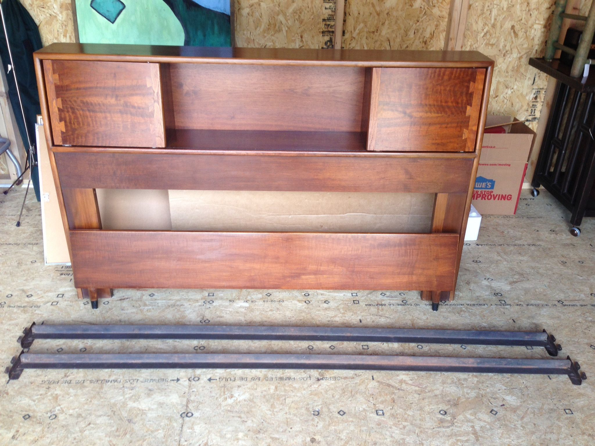 Mid Century Lane Acclaim Bookcase Headboard Bed Full Size With Footboard And Rails Bookcase Headboard Bookcase Headboard