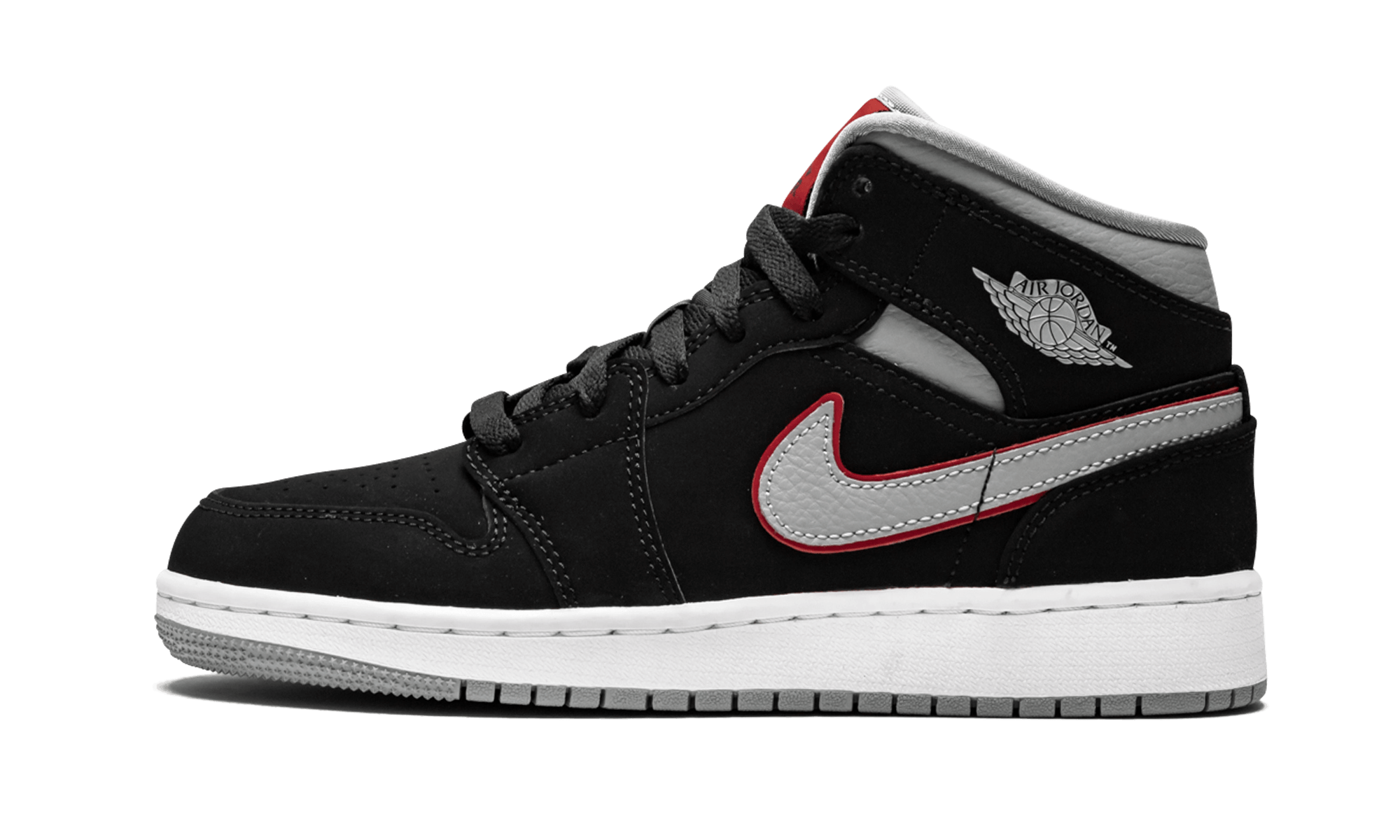 "Air Jordan 1 Mid (GS) ""Black Particle Grey"" 554725 060"