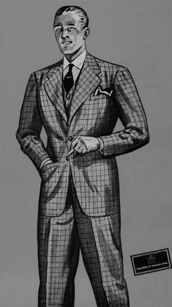 1930s Fashion Advertisement Vintage Mens Illustrations