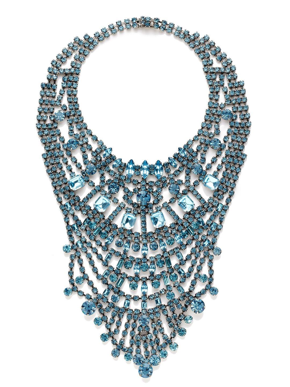 Madame Dumont Aquamarine Large Bib Necklace by Tom Binns at Gilt