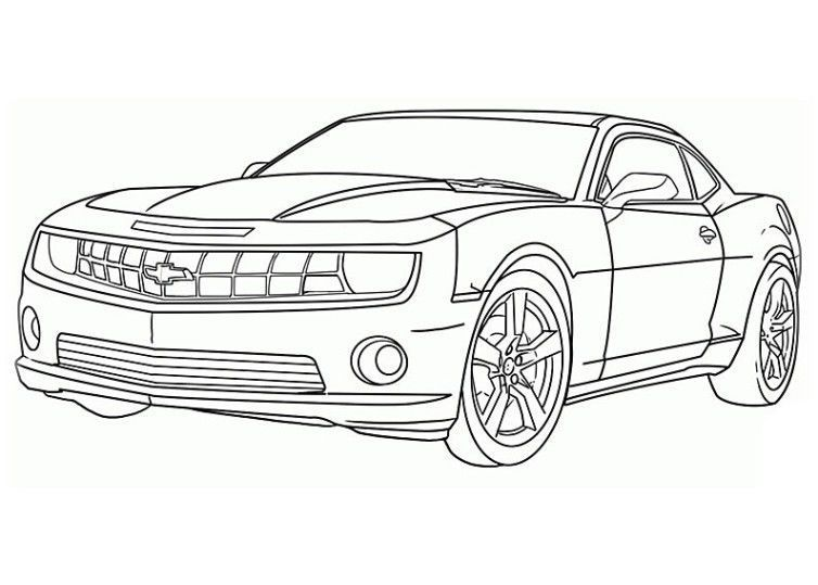 Autoszeichnungen In 2020 Cars Coloring Pages Race Car Coloring Pages Camaro Car