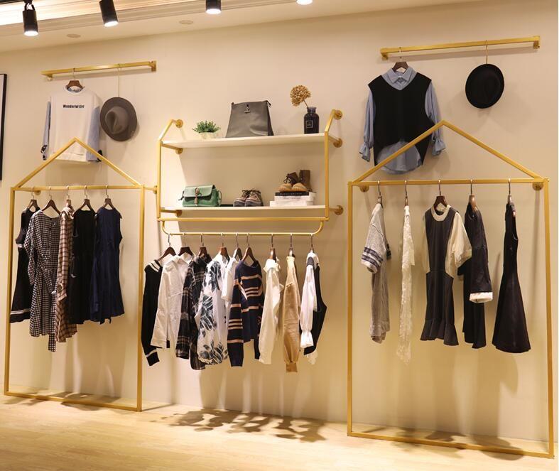 Clothing store floor display rack hanging rack
