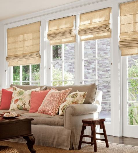 Reverse Clic Roman Fabric Shade By Smith Le On Homeportfolio Shades French Doorslinen