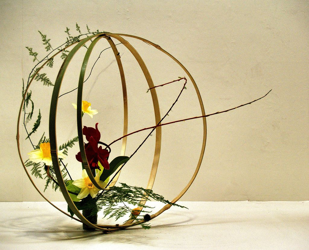 Floral Inspiration: Ikebana is the Japanese art of flower arrangement. It is more than simply putting flowers in a container. It is a disciplined art form in which the arrangement is a living thing where nature and humanity are brought together. It is steeped in the philosophy of developing a closeness with nature.
