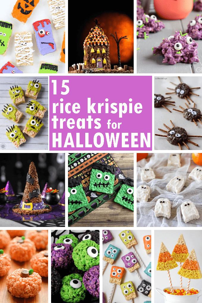 HALLOWEEN RICE KRISPIE TREATS: 15 of the BEST cereal treat ideas #halloweenricekrispietreatsideas
