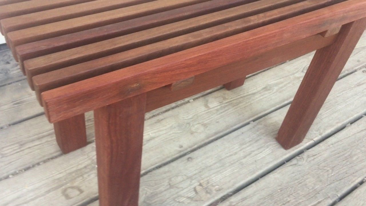 Beautiful Handmade Wood Shower Bench In