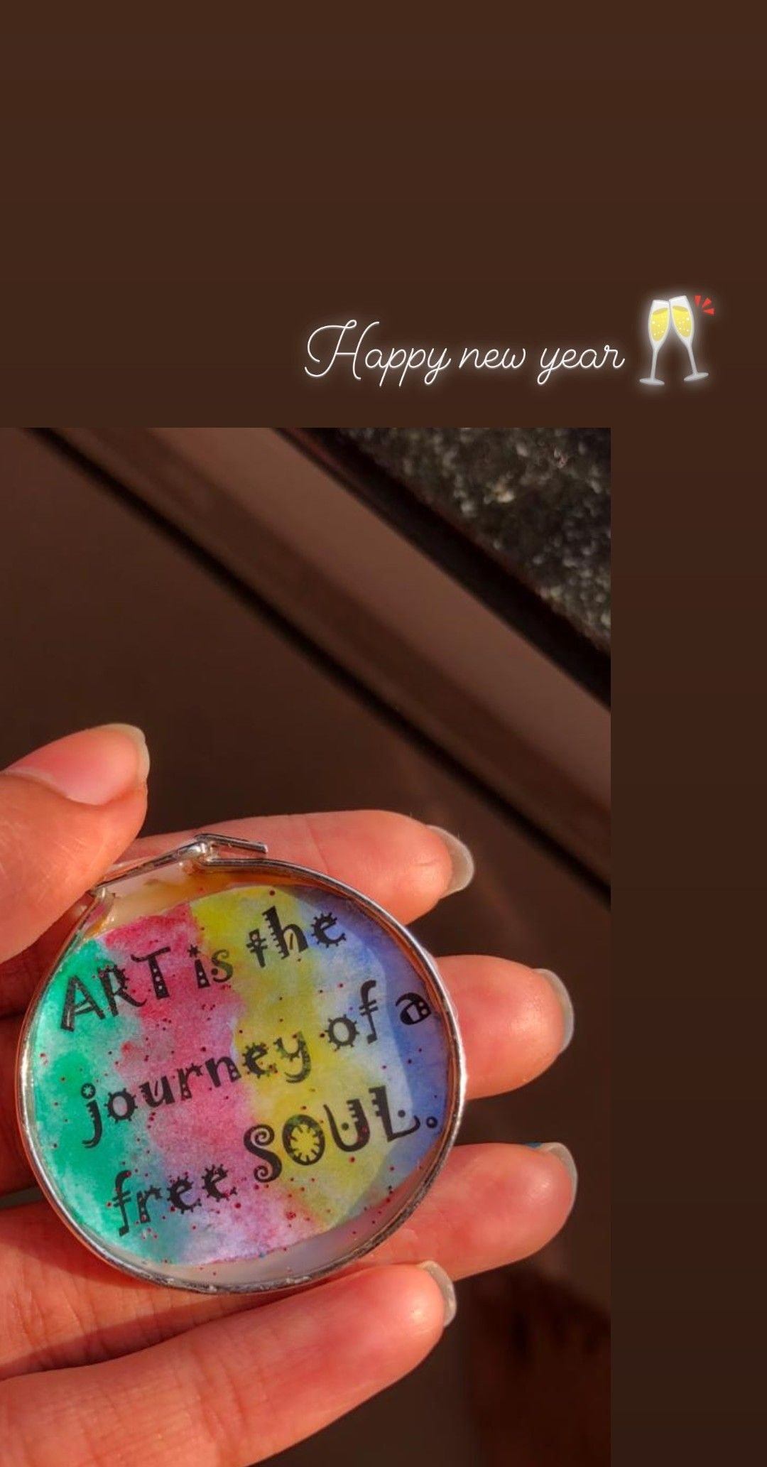 Keychain Pedant Keychain Nail Polish Happy New Year