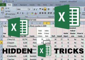Best Hidden Tricks In Microsoft Excel 1 Pinterest Pocitace